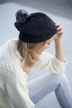 Knitting Black Hat. Pattern (Dutch) at  Veritas