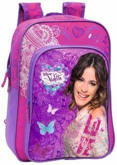Disney Violetta Zaino Scuola Adattabile, Zaini e Accessori Tempo Libero Bambina Disney - TocTocShop.com - Il negozio online completamente de...