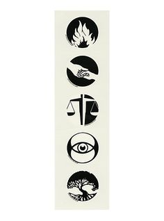 Divergent Faction Symbol Temporary Tattoo Pack | Hot Topic