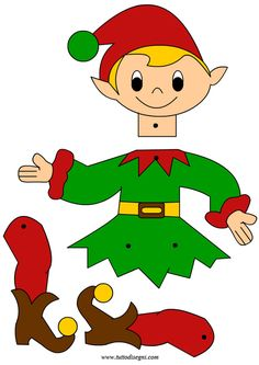 elfo-lavoretto-fermacampioni Christmas Elf Doll, Christmas Arts And Crafts, Christmas Activities, Christmas Deco, Christmas Crafts, Christmas Ornaments, Paper Puppets, Kids Background, Puppet Crafts