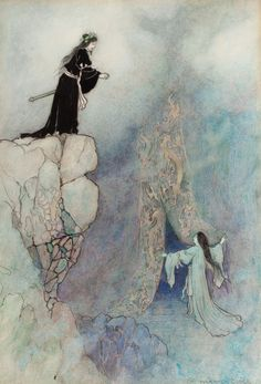From Green Willow and other Japanese fairy tales, 1910 by Warwick Goble (English, 1862–1943)