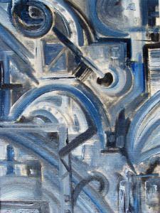 Abstact 5 Oil on Board cm x 18 cm Irish Art, Fine Art America, Blues, Oil, Abstract, Board, Artwork, Painting, Summary