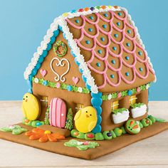 Shortbread Easter House - Handmade with honey-vanilla dough, this completely edible bunny abode comes fully assembled and decorated.