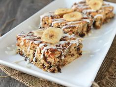 Blogger Brooke McLay from a href=http://www.cheekykitchen.com target=_blankCheeky Kitchen/a packs a powerful punch of protein into homemade banana breakfast bars.