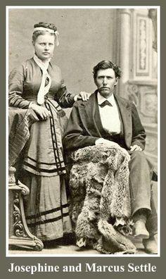 Josephine Sackett and Marcus G. Settle, early pioneers of Norwalk, CA.