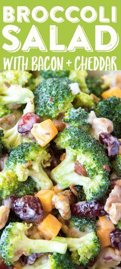 Broccoli Salad with Bacon Cheddar Broccoli Salad&; Broccoli Salad with Bacon Cheddar Broccoli Salad&; Easy Quick Brocolli Salad Recipes brocollisaladtrd Brocolli Salad Recipes Broccoli Salad […] slaw with bacon Best Broccoli Salad Recipe, Easy Broccoli Salad, Easy Salad Recipes, Easy Salads, Healthy Recipes, Brocolli Salad With Bacon, Broccoli Salad With Cranberries, Brocolli Cranberry Salad, Soup Recipes