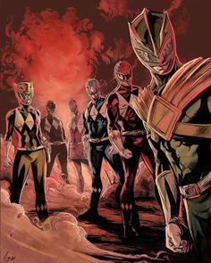 Power Rangers Reboot, Power Rangers Fan Art, Power Rangers Comic, Kamen Rider, Power Rangers Pictures, Cartoon Posters, Cartoons, Power Rengers, Green Ranger