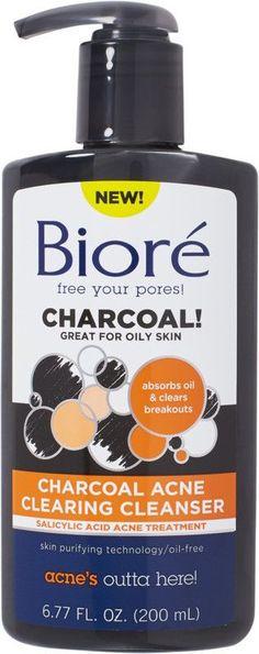 Biore Charcoal Acne Cleanser #affiliatelink