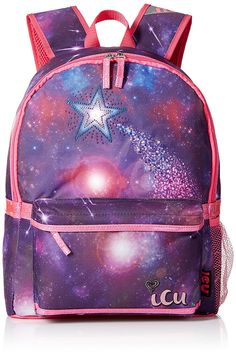 ICU Girls' Galactic Shooting Star Backpack >>> See this great product. (This is an Amazon Affiliate link and I receive a commission for the sales)
