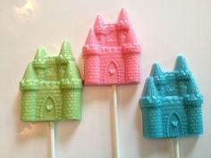 chocolate lollipops favors   24 PRINCESS PARTY Castle Chocolate Lollipops Party Favors