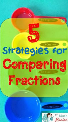 There are so many ways to compare fractions! Check out these 5 efficient strategies that will have your students on the path to understanding in no time! Comparing Fractions, Teaching Fractions, Math Fractions, Teaching Math, Teaching Ideas, Maths, Creative Teaching, Ordering Fractions, Math Strategies