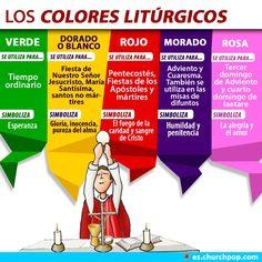 Infografía: Conoce el significado de los Colores Litúrgicos | ChurchPOP