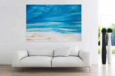 Öl Gemälde 'Wolkig bis heiter' 180x120cm
