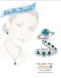TBT to an old ad for the Betty Blue collection- exclusively at Alberto! #TBT #Alberto #BettyBlue #ColorDiamonds #Jewelry