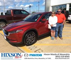 Congratulations to Anthony and Ann Guillory on their 2017 Mazda CX-5 Grand Touring! Thanks from your Sales Consultant Joel Massey, 38-229-3282. #Hixson #Mazda #CX-5 #VillePlatte