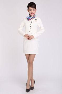 De lente en de herfst nieuwe carrière mantelpakje met lange mouwen overalls schoonheidsspecialiste Foot technicus stewardess uniformen kleding - wereldwijde Station Taobao