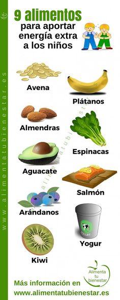 Alimentos para un aporte de energía extra en niños | https://lomejordelaweb.es/