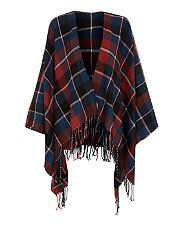 Navy and Red Check Blanket Wrap | New Look