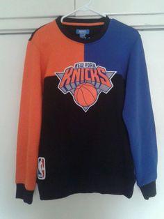 145e212a3f4 New York Knicks NBA Basketball Blue Orange Black Adidas Crew Sweater Small  NEW  adidas  NewYorkKnicks
