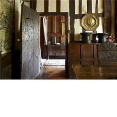 The dining room at Yelford Manor. This medieval manor house dates from the 1490s.