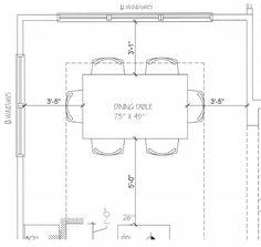 Casual Dining Furniture Layout