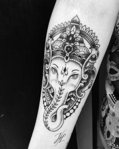Ganesha tattoo by Marjorianne