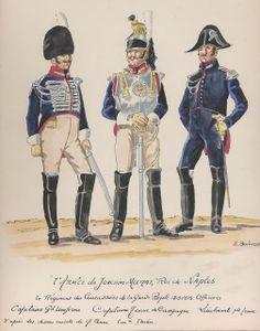 Capitano e tenente dei corazzieri del regno di Murat