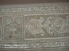 Trip to India with my eight year old daughter – Part I: Shantiniketan Rangoli Ideas, Rangoli Designs, Alpona Design, Rangoli Colours, Madhubani Art, Indian Folk Art, India Art, Newspaper Crafts, Art N Craft