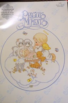 Precious Moments  Cross Stitch Patterns  By Gloria & Pat Baby Book by Patternhaus on Etsy