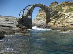 #andros #greece Andros Greece, Greek Beauty, Greek Islands, Bridges, Mount Rushmore, Magic, Mountains, Stone, Awesome