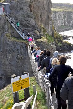 Carrick-a-Rede Rope Bridge. Aren't there too many of them on this?