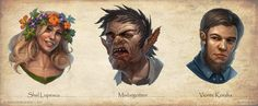 Paizo characters portraits by ~DevBurmak on deviantART