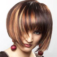 Trendy Straight Colormix High Temperature Fiber Full Bang Wig For Women