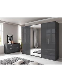 Prague Gloss 6 Door Mirrored Wardrobe In 2019 Wardrobes Mirrored throughout proportions 1350 X 1800 Prague Bedroom Furniture - If this sounds the first Wardrobe Interior Design, Wardrobe Door Designs, Wardrobe Design Bedroom, Wardrobe Doors, Closet Bedroom, Wardrobe Storage, White Bedroom Furniture, Gray Bedroom, Trendy Bedroom