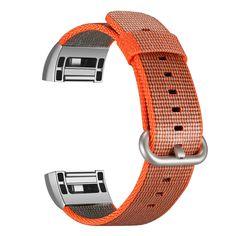 For Fitbit Charge 2 Bands Nylon, ESEEKGO Woven Nylon Strap for Fitbit Charge 2 Adjustable Replacement Sport Wristband ( No Tracker, Orange), Wristbands - Amazon Canada