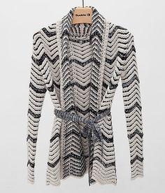 BKE Boutique Chevron Cardigan Sweater - Women's Sweaters   Buckle
