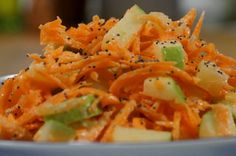 Carrot slaw with apples