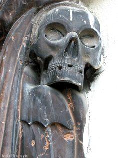 St.Peter cemetery downtown Salzburg, Cemetery, Beautiful Places, Lion Sculpture, Skull, Statue, Art, Art Background, Kunst