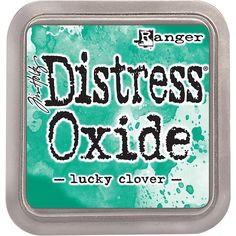 Now available at Kat Scrappiness.com Lucky Clover Dist...! More info here: http://www.katscrappiness.com/products/lucky-clover-distress-oxides-ink-pad-by-tim-holtz?utm_campaign=social_autopilot&utm_source=pin&utm_medium=pin