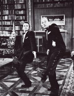 Frank Sinatra and Bing Crosby in High Society, 1956. I love how Frankie's so chill laying down his moves