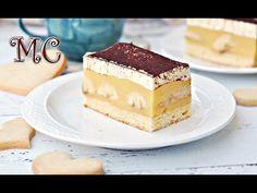 Mega Ciasto BANANOWE ze Śmietanką – Dzisiaj przepyszne ciasto bananowe na biszkopcie z kremem śmietankowym. Jest bardzo wilgotne, kremowe, aromatyczne... Tiramisu, Cheesecake, Ethnic Recipes, Food, Mudpie, Cheese Pies, Cheesecakes, Meals, Yemek