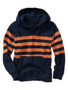Button stripe slub hoodie (Gap 4+)