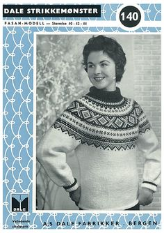 Ravelry: Damegenser med rundt bærestykke pattern by Dale Design Vogue Knitting, Free Knitting, Sweater Knitting Patterns, Norwegian Style, Norwegian Knitting, Nordic Sweater, Icelandic Sweaters, Fair Isle Knitting, Threading