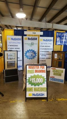 Nu Sash Of Indianapolis Is All Set Up At The Marion County Fair And Ready