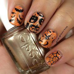Halloween nail art!!!!