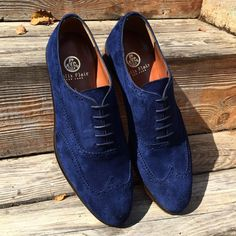 Felix Flair Navy suede brogue.