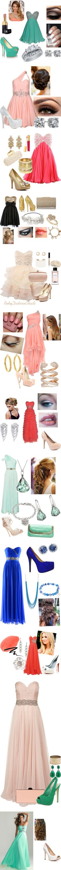 Wow, these are all beautiful looks. Let's throw a fancy party! Prom Outfits, Hoco Dresses, Dance Dresses, Homecoming Dresses, Pretty Dresses, Beautiful Dresses, Evening Dresses, Formal Prom, Dream Dress