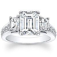 Emerald Cut 3-Stone Diamond Engagement Ring