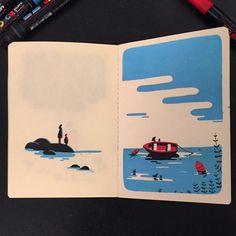 "4,167 Me gusta, 58 comentarios - Tom Haugomat (@tomhaugomat) en Instagram: ""#sketchbook #mareebasse #arradon """
