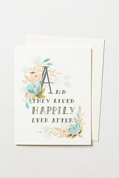 Happily Ever After Card - anthropologie.com